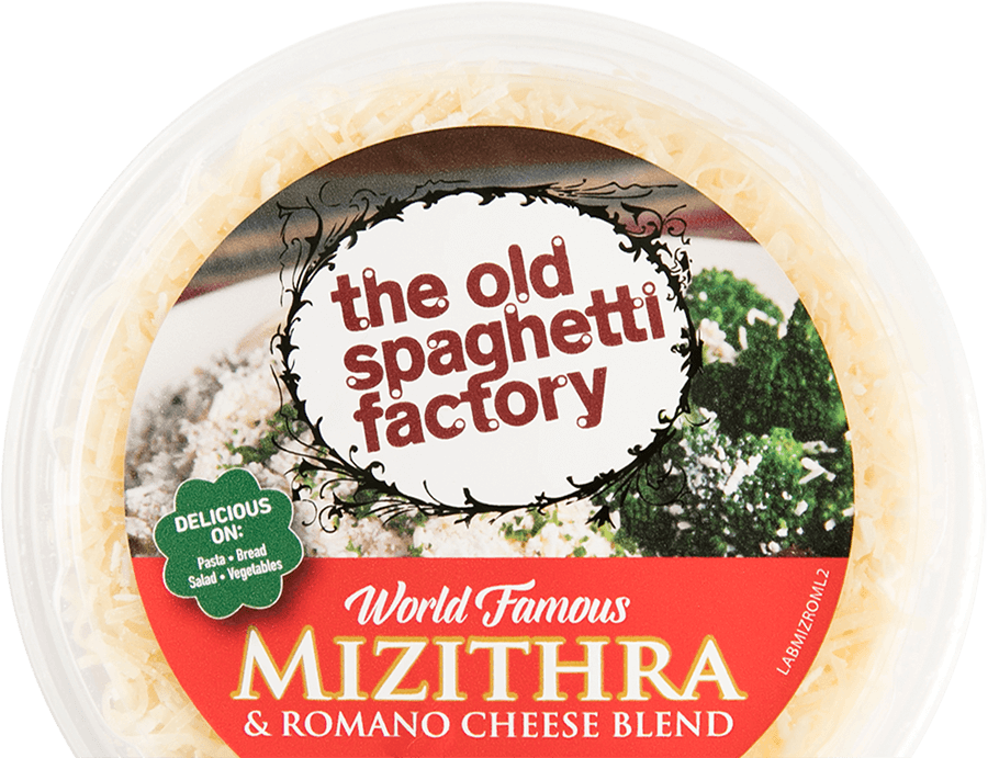 top view of package of Mizithra cheese